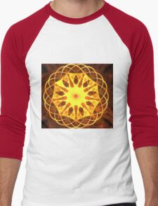 Yellow Matrix Men's Baseball ¾ T-Shirt