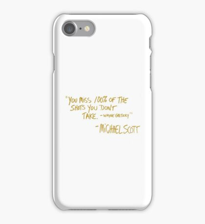 The Office Wayne Gretzky Quote Gold iPhone Case/Skin