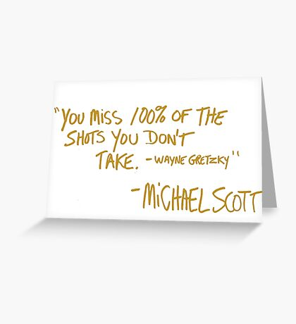The Office Wayne Gretzky Quote Gold Greeting Card