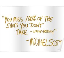 The Office Wayne Gretzky Quote Gold Poster