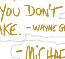 The Office Wayne Gretzky Quote Gold Sticker