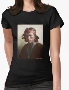 Navajo Boy 1907 Womens Fitted T-Shirt