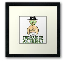 The Mask Of Zorro Framed Print