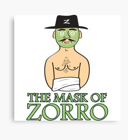 The Mask Of Zorro Canvas Print