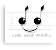 Music Makes Me Smile Canvas Print