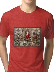 """""""SONG DYNASTY"""" Ancient Chinese Print Tri-blend T-Shirt"""
