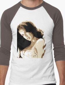 Adrianna Lima Vector Illustration Men's Baseball ¾ T-Shirt