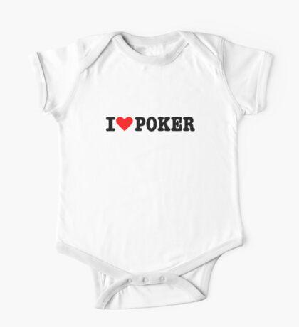 I love Poker One Piece - Short Sleeve