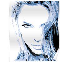 Angelina Jolie Vector Illustatrion no. 2 Poster