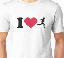 I love running Unisex T-Shirt