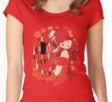 Kiss of the Devil Women's Fitted Scoop T-Shirt