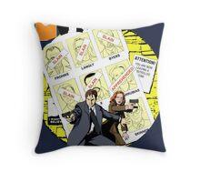The Uncanny X-Files Throw Pillow