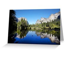 Yosemite Valley, California, USA. Greeting Card
