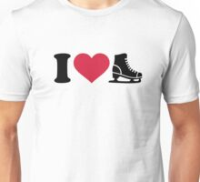 I love skate speed figure skating Unisex T-Shirt
