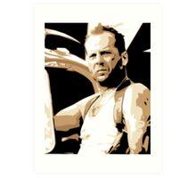 Bruce Willis Vector Illustration Art Print