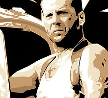Bruce Willis Vector Illustration by EJTees