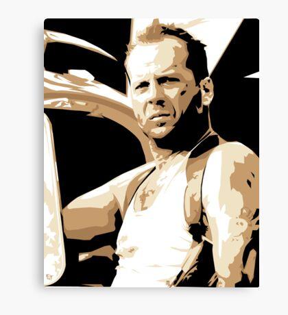 Bruce Willis Vector Illustration Canvas Print