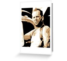 Bruce Willis Vector Illustration Greeting Card