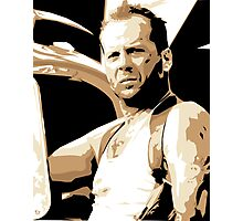 Bruce Willis Vector Illustration Photographic Print