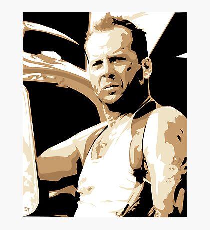 Bruce Willis Vector Illustration Photographic Print