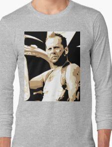 Bruce Willis Vector Illustration Long Sleeve T-Shirt