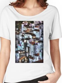 Casares, Andalusia, Spain. A famous white village Women's Relaxed Fit T-Shirt