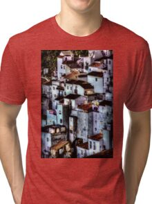 Casares, Andalusia, Spain. A famous white village Tri-blend T-Shirt