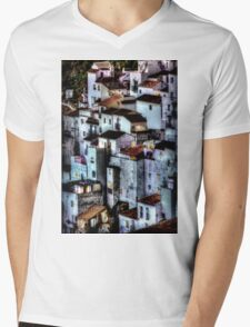 Casares, Andalusia, Spain. A famous white village Mens V-Neck T-Shirt