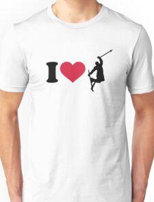 I love freestyle skiing Unisex T-Shirt