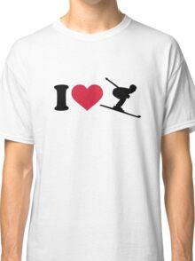 I love downhill skiing Classic T-Shirt