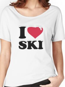 I love ski skiing Women's Relaxed Fit T-Shirt