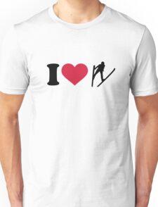 I love ski jumping Unisex T-Shirt