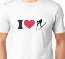 I love ski jumping Unisex T-Shirt