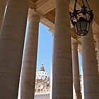 The Colonnade of the Piazza San Pietro by Alex Cassels