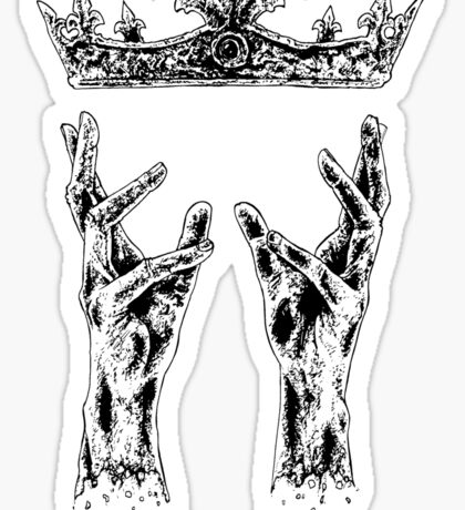 Reaching for crown Sticker