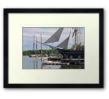 Wednesday At The Seaport 3 Framed Print