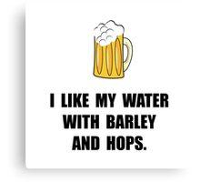 Barley Hops Beer Canvas Print