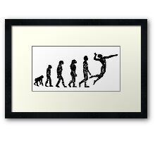 Distressed Volleyball Evolution Framed Print