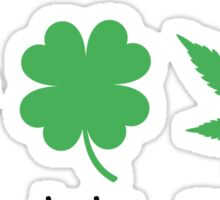 Superlucky Hemp Leaf (white  font) Sticker