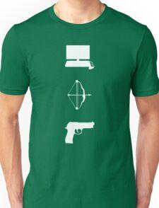 Team Arrow - Symbols - Weapons Unisex T-Shirt