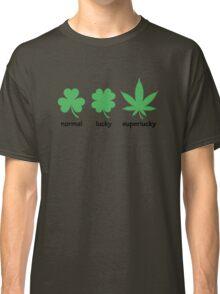 Superlucky Hemp Leaf (black font) Classic T-Shirt