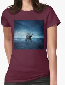 ghost ship 1 Womens Fitted T-Shirt