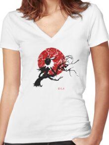 Thunder Stone Women's Fitted V-Neck T-Shirt