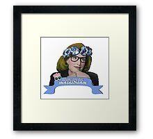 Hipster Scully - Aliens are too Mainstream Framed Print
