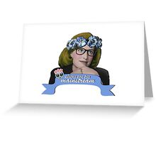 Hipster Scully - Aliens are too Mainstream Greeting Card