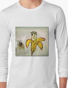 Basquiat banane jaune pourrie ouverte banana yellow Long Sleeve T-Shirt