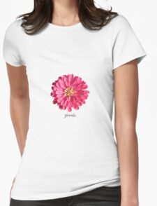 Zin Garden in Pink Womens Fitted T-Shirt