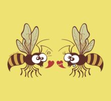 Couple of beautiful bees discussing about love Kids Tee