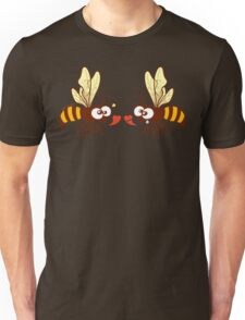Couple of beautiful bees discussing about love Unisex T-Shirt