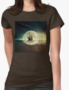 ghost ship II Womens Fitted T-Shirt